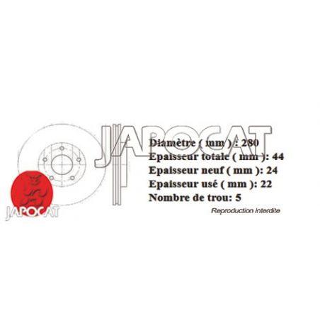 DISQUE AV JUKE 280mm EBC x2